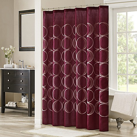 Buy Madison Park Tamia Embroidered Shower Curtain In