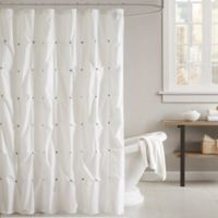 INK + IVY Masie Shower Curtain in White