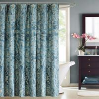 Harbor House™ Belcourt Printed Shower Curtain in Blue