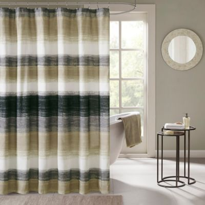 Madison Park Essentials Saben Printed Shower Curtain In Taupe