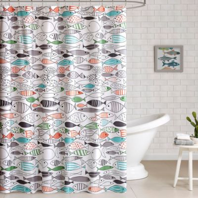 Incroyable HipStyle Sardina Printed Shower Curtain In Yellow