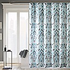 Madison Park Capris 72-Inch x 72-Inch Microfiber Shower Curtain in Blue