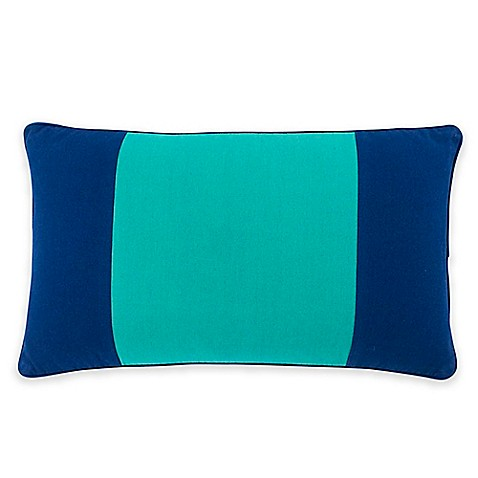 Southern Tide Prep Plaid Color Block Oblong Throw Pillow in Blue/Green - Bed Bath & Beyond