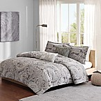 Madison Park Ronan Full/Queen 5-Piece Duvet Set in Grey