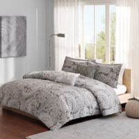 Madison Park Ronan King/California King Duvet Cover Set in Grey