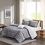 Madison Park Alexa Reversible King/California King Duvet Cover Set in Grey
