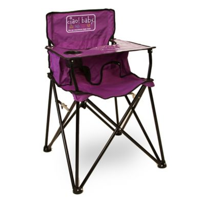 Great Travel Accessories U003e Ciao! Baby™ Portable Highchair In Purple