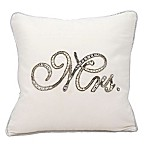 "kathy ireland® Home by Nourison Beaded ""Mrs."" Square Throw Pillow"