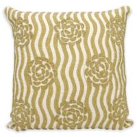 Kathy Ireland Home Rose Garden Square Throw Pillow in Gold