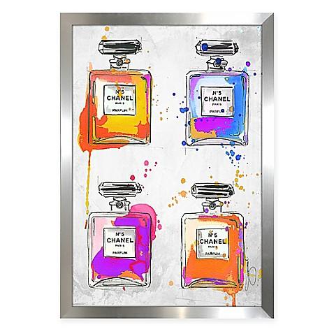 By jodi chanel color splash framed wall art bed bath for Color splash wall art