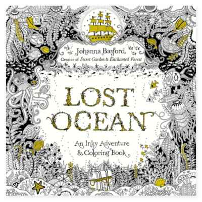 Johanna Basford Lost Ocean: An Inky Adventure Coloring Book