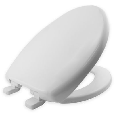 Mayfair  Elongated Plastic Toilet Seat in White with Whisper Close. Buy Toilet Seats from Bed Bath   Beyond