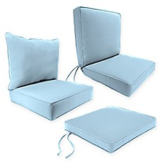 outdoor seat cushion collection in canvas air blue