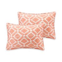 Madison Park Delray Diamond Printed 14-Inch x 20-Inch Decorative Pillow in Orange (Set of 2)