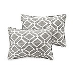 Madison Park Delray Diamond Printed 14-Inch x 20-Inch Decorative Pillow in Grey (Set of 2)