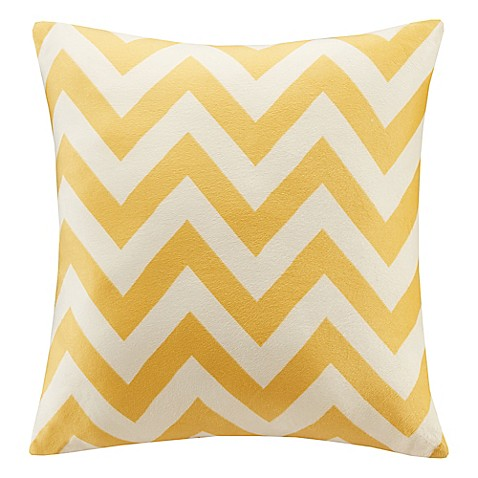 Kohls Yellow Throw Pillows : Buy Intelligent Design Chevron Plush Square Decorative Pillow in Yellow from Bed Bath & Beyond