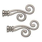 Cambria® Classic Complete® Lariat Finials in Graphite (Set of 2)