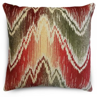 radiant chenille throw pillow in redyellow - Red Decorative Pillows