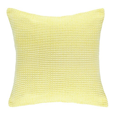 Newport Jigsaw Square Throw Pillow in Pale Yellow - Bed Bath & Beyond