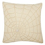 Mina Victory Luminescence Beaded Spider Web Square Throw Pillow in Gold