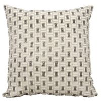 Mina Victory Luminescence Bead Buckles 20-Inch Square Throw Pillow in Pewter