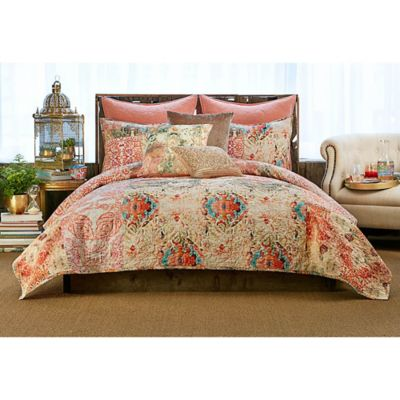 tracy porter poetic wanderlust wish king quilt in peach