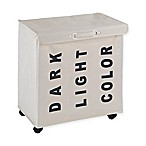Wenko 3-Compartment Trivio Laundry Bin in Beige