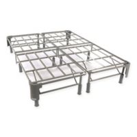 Comfort Revolution No Stress Premium Steel Full Mattress Foundation in White/Grey