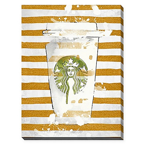BY Jodi Starbucks & Stripes Canvas Wall Art - Bed Bath & Beyond