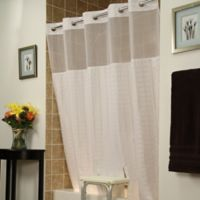 BenchBuddyR Polyester Shower Curtain In White