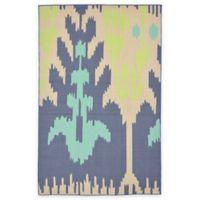Liora Manne Playa Ikat 4-Foot 10-Inch x 7-Foot 6-Inch Indoor/Outdoor Area Rug in Blue/Green