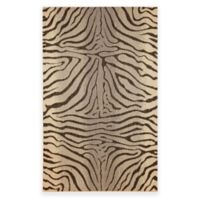 Liora Manne Terrace Zebra Stripes 3-Foot 3-Inch x 4-Foot 11-Inch Indoor/Outdoor Rug in Charcoal