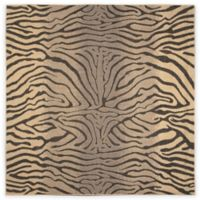 Liora Manne Terrace Zebra Stripes 7-Foot 10-Inch x 7-Foot 10-Inch Indoor/Outdoor Rug in Charcoal