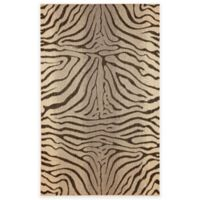Liora Manne Terrace Zebra Stripes 7-Foot 10-Inch x 9-Foot 10-Inch Indoor/Outdoor Rug in Charcoal