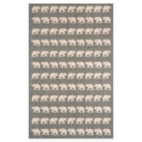 Liora Manne Terracotta Elephant 3-Foot 3-Inch x 4-Foot 11-Inch Indoor/Outdoor Accent Rug in Silver