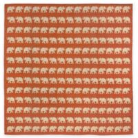 Liora Manne Terracotta Elephant 7-Foot 10-Inch Round Indoor/Outdoor Area Rug in Terracotta