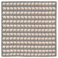 Liora Manne Terracotta Elephant 7-Foot 10-Inch Round Indoor/Outdoor Area Rug in Silver