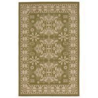 Liora Manne Kilim 1-Foot 11-Inch x 2-Foot 11-Inch Indoor/Outdoor Accent Rug in Green