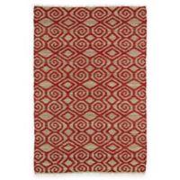 Kaleen Kenwood Tribal 3-Foot 6-Inch x 5-Foot 6-Inch Area Rug in Red