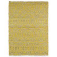 Kaleen Kenwood Double Circles 7-Foot x 9-Foot Area Rug in Yellow