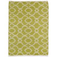 Kaleen Kenwood Trellis 7-Foot 6-Inch x 9-Foot Area Rug in Lime Green
