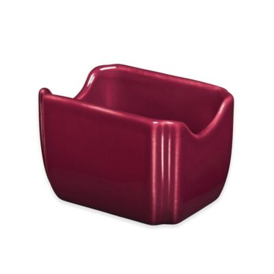 Fiesta® Sugar Packet Caddy In Claret