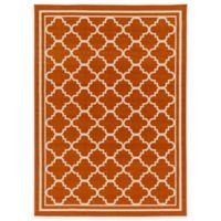 Surya Ianjica 3-Foot 11-Inch x 5-Foot 3-Inch Indoor/Outdoor Area Rug in Orange