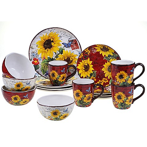 Certified International Sunflower Meadow Dinnerware Collection  sc 1 st  Bed Bath \u0026 Beyond & Certified International Sunflower Meadow Dinnerware Collection - Bed ...
