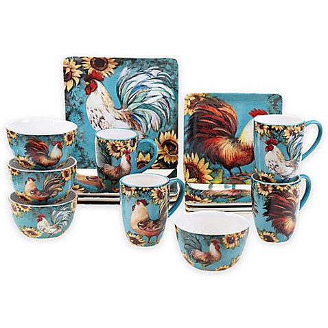 Certified International Sunflower Rooster Dinnerware Collection ...