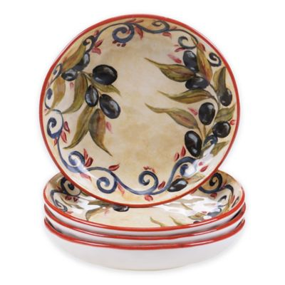 Certified International Umbria Soup Bowls (Set of 4)  sc 1 st  Bed Bath u0026 Beyond : soup bowl and plate set - pezcame.com