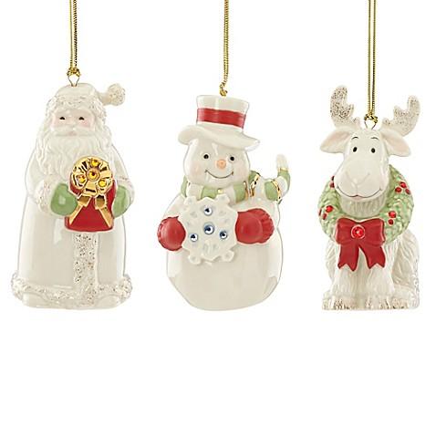 Lenox® Gemmed Christmas Ornaments (Set of 3) - Bed Bath ...