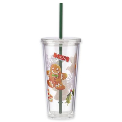 Buy Acrylic Tumblers with Lids and Straws from Bed Bath Beyond