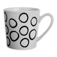 Formations Flare Circle Print Mug in Black/White