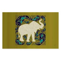 The Softer Side by Weather Guard™ 18-Inch x 27-Inch Elephant Kitchen Mat in Green